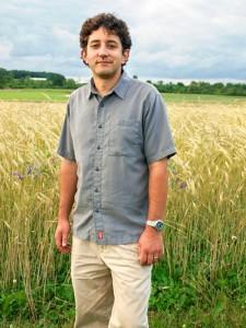 Michael Mazourek in a field