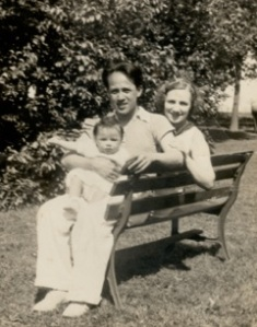 Gregorio Marquez with daughter Dolores on his lap and wife Fran at his side, taken in 1936.